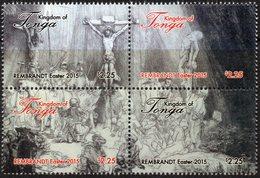TONGA - 2015 - Pâques 2015, Peintures De Rembrandt - 4 Val Neufs // Mnh - Tonga (1970-...)