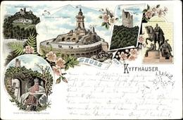 Lithographie Steinthaleben Kyffhäuserland In Thüringen, Kaiser Wilhelm Denkmal, Rothenburg - Duitsland