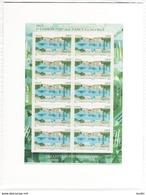 PA 75 F75a , Neuf  ** , 1er Liaison Postale Nancy Luneville , Feuille De 10 Timbres Cadre Blanc , Port Gratuit - Airmail