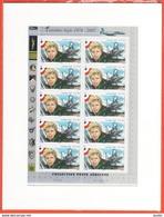 PA 78 F78a , Neuf  ** , Caroline Aigle , Feuille De 10 Timbres Cadre Blanc , Port Gratuit - Airmail