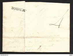 Gers-Lettre De M. Basignan Cpt Au Regiment D'Auch-Marque D'AVCH - 1701-1800: Précurseurs XVIII