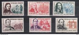 Serie Personnage Célèbres 1961 , 1295 à 1300 , Neuf ** Port Gratuit - Neufs