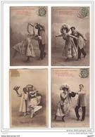 COUPLES / FANTAISIE : LOT DE 4 CPA PIONNIERES COUPLES (Ref 1867) - Couples