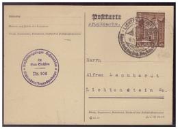 Dt-Reich (007685) Postkarte Mit Umsiedlungslager- Stempel Bessarabien Im Gau- Sachsen, Lichtenstein/ Jugendherberge - Briefe U. Dokumente