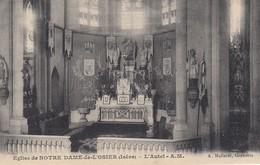 CP DAUPHINE 38 ISERE  - NOTRE DAME DE L'OSIER - L'AUTEL - Francia