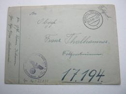 1942 , KRUMMAU , Feldpostbrief - Briefe U. Dokumente