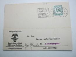 1934 , Kiel , Karte Des Reichsnährstand - Briefe U. Dokumente