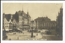 * BONN Der Rhein , Marktplatz M. Rathaus. ; CPA ANIMEE , RARE CARTE PHOTO - Bonn