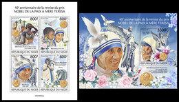 NIGER 2019 - Mother Teresa Nobel Prize, M/S + S/S. Official Issue [NIG190504] - Mutter Teresa