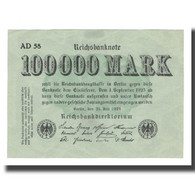 Billet, Allemagne, 100,000 Mark, 1923, 1923-07-25, KM:91a, SUP - [ 3] 1918-1933 : República De Weimar