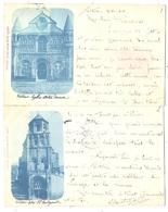 86 - POITIERS - Eglise Notre-Dame Et Eglise Sainte Radegonde (2 Cartes) - Poitiers
