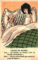 Humour 617, Vague De Baisse Couple Lit - Humor