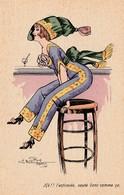 CPA Aquarellée Femme Lady Glamour Women Girl Mode Entravée Série 157 Illustrateur Ch. NAILLOD (2 Scans) - Naillod