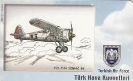 TURKEY - P.Z.L. P-24 1936-40 (Aircraft) , Tirage 200,000 , 100 Unit ,used - Türkei
