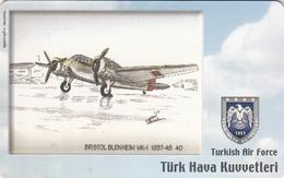 TURKEY - Bristol Blenheim MK-I 1937-48 (Aircraft) , Tirage 200,000 , 100 Unit ,used - Türkei