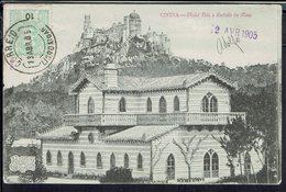 "Portugal - 1905 - Imprimés Carte U.P.U De Lisboa Pour Rambervillers (Fr) CPA ""Cintra - Chalet Edla E Castello Da Péna"" - 1910 : D.Manuel II"