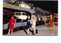 Train Auto-Couchettes  - Chemins De Fer Francais. SNCF- Citroen DS AMI 6 - Passenger Cars