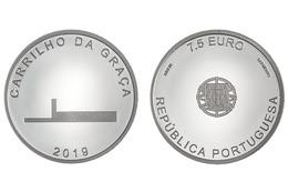 """PORTUGAL  7,5€ 2.019  2019 Cu Ni  SC/UNC  """"ARQUITETO CARRILHO DA GRAÇA""""  T-DL-12.324 - Portugal"""