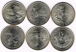 Six US Coins Of District Of Columbia And United States Territories Quarters Programm, UNC, 2009 - EDICIONES FEDERALES