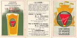 Brasserie Breuvart. Depliant Exposition Universelle Paris 1937 Scan Recto-verso. Biere Pas Motte Cordonnier - Werbung
