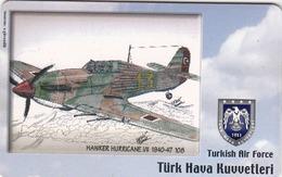 TURKEY - Hawker Hurricane I/II 1940-47 (Aircraft) , Tirage 200,000 , 50 Unit ,used - Türkei