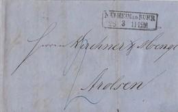 Preussen Brief Rechnung Bergbau Friedrich Wilhelm-Hütte R2 Mülheim A. D. Ruhr 28.3. Gel. Nach Arolsen - Prusse