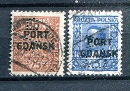 POLOGNE - PORT GDANSK - Y&T 20 Et 21 (perforés VD) - 1919-1939 República