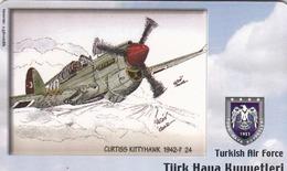 TURKEY - Curtiss Kittyhawk 1942-? (Aircraft) , Tirage 200,000 , 50 Unit ,used - Türkei