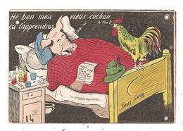Illustrateur Xavier Sager- Cochon Humanisé- Coq--(D.4165) - Sager, Xavier