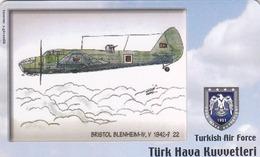 TURKEY - Bristol Blenheim-IV,V 1942-? (Aircraft) , Tirage 200,000 , 50 Unit ,used - Türkei
