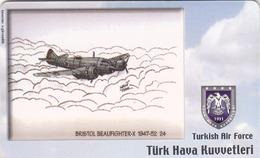 TURKEY - Bristol Beaufighter-X 1947-52 (Aircraft) , Tirage 200,000 , 50 Unit ,used - Türkei