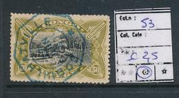 BELGIAN CONGO 1909 ISSUE COB 53 USED COQUILHATVILLE - Belgisch-Kongo