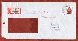 Vorderseite, Einschreiben Reco, Neues Tor Neubrandenburg, Breitbrunn 1996 (82862) - [7] Repubblica Federale
