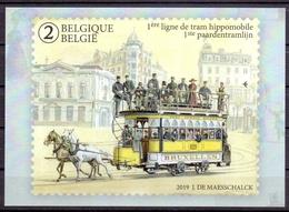 Belgie - 2019 - OBP - 1  Max. Kaart - ** 1ste Paardentramlijn ** Uitgifte Bpost - Maximum Cards