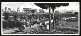 ROMA - 1955 - ACQUEDOTTO CLAUDIO CON CARRETTI E CONTADINI - FORMATO LUNGO (cm 21 X 9) - Costumi