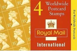 GREAT BRITAIN, WINDOW BOOKLET (RETAIL), 1995, GK 7, 4x35p - Booklets