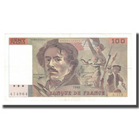 France, 100 Francs, Delacroix, 1995, SUP, Fayette:69ter.02b, KM:154h - 1962-1997 ''Francs''