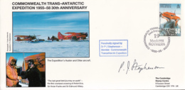 British Antarctic Territory FDC Sc 148 Signed Dr P J Stephenson Cachet Auster, Otter Aircraft - Antarctic Expeditions