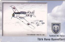 TURKEY - T-6 Harward 1948-73 (Aircraft) , Tirage 200,000 , 100 Unit ,used - Türkei