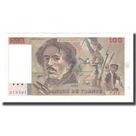France, 100 Francs, Delacroix, 1995, TTB+, Fayette:69ter.02b, KM:154h - 1962-1997 ''Francs''
