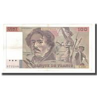 France, 100 Francs, Delacroix, 1995, TTB, Fayette:69ter.02a, KM:154h - 1962-1997 ''Francs''