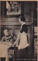 AK  Een Pratje In Alle Eer En Deugd Behoort Bij De Soldatenvreugd - Soldat Mit Frau - Patriotika - Ca. 1910  (45385) - Weltkrieg 1914-18