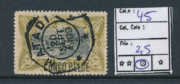 BELGIAN CONGO 1909 ISSUE COB 45 USED - Belgisch-Kongo