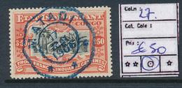 BELGIAN CONGO 1909 ISSUE COB 27 USED - Belgisch-Kongo
