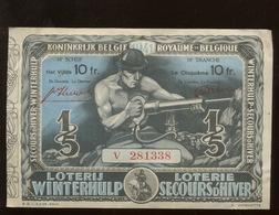 Mineur De Charbon. Coalminer. Billet De Loterie Belge De 1941 - Billets De Loterie
