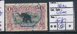 BELGIAN CONGO 1909 ISSUE COB 26B LILAC USED - Belgisch-Kongo