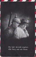 AK  Deutscher Soldat Mit Frau - Dir Hab Ich Mich Ergeben - Patriotika - Feldpost Göppingen 1916  (45389) - Weltkrieg 1914-18