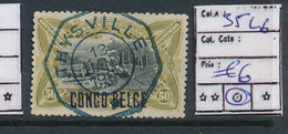 BELGIAN CONGO 1909 ISSUE COB 35L6 USED THYSVILLE TEL ONE STAR - Belgisch-Kongo