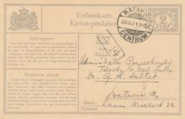 Nederlands Indië - 1931 - 2 Cent Cijfer, Verhuiskaart G8 Lokaal Gebruikt Batavia - Niederländisch-Indien