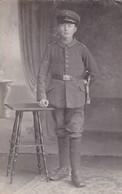 AK Foto Deutscher Soldat Mit Bajonett - 1. WK  (45391) - Weltkrieg 1914-18